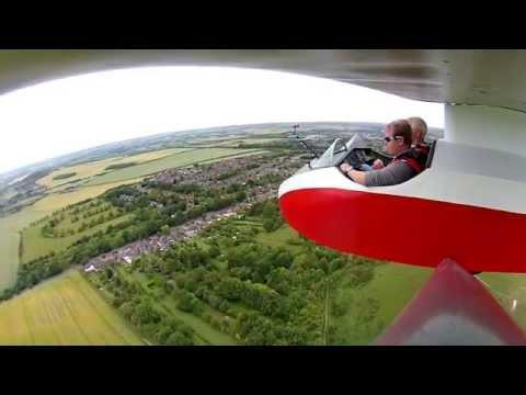 Slingsby T.21b Flight, London Gliding Club