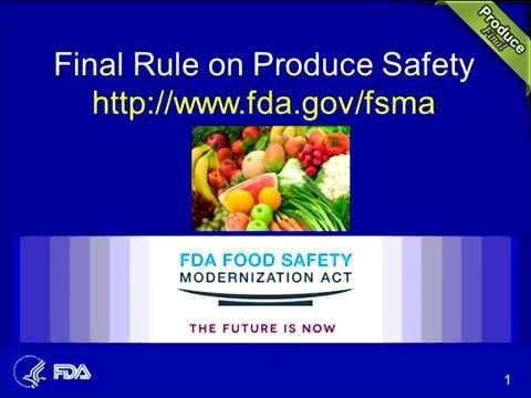 FSMA Webinar: Final Rule for Produce Safety