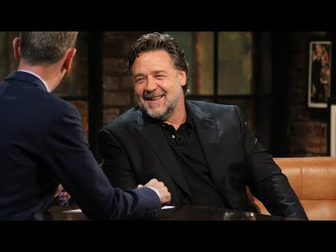 Russell Crowe throwing some serious rugby shade! | The Late Late Show | RTÉ One