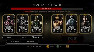 Mortal Kombat X Android Shao Kahn's Tower Fight 62 - 69