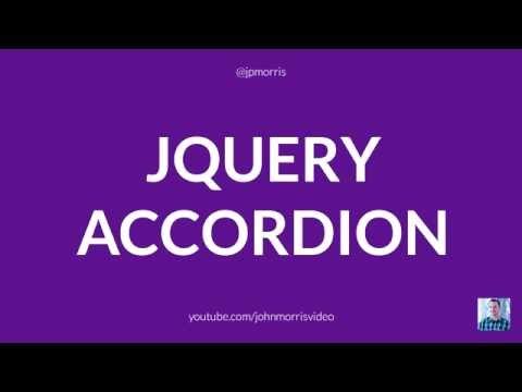 JQuery Tutorial: How To Build A JQuery Accordion