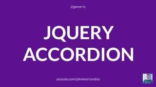 jQuery Tutorial: How to Build a jQuery Accordion