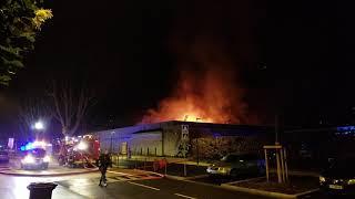 Intermarché Rochetaillée sur Saône en feu