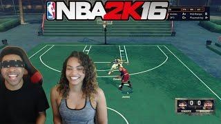 GIRLFRIEND VS BOYFRIEND ! LeBron Vs Durant NBA 2k16 #Blindfoldchallenge! & Funny Moments