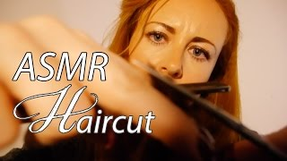 ASMR Haircut Role Play - Binaural ✂︎Spraying & Scissors✂︎