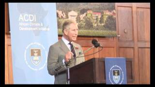 The Prince of Wales gives a keynote environmental speech at Cape Town University