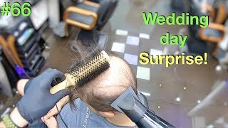Wedding Day Surprise! Wife Won't Recognize Him (Hairstyle for Men) Hair Building Fibers 2019