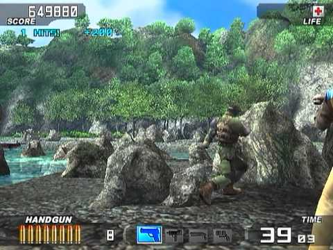 Time Crisis 3 (JP) - 1 life on Very Hard (タイムクライシス3 最高難易度&ライフ1)