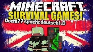 Docm77 Spricht DEUTSCH :D! Minecraft SURVIVAL GAMES | Ungespielt