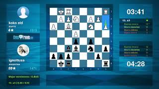 Chess Game Analysis: koko eid - ignottuss : 0-1 (By ChessFriends.com)