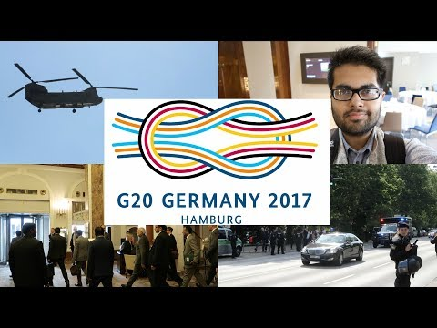 Working at G20 Hamburg 2017: An Indian