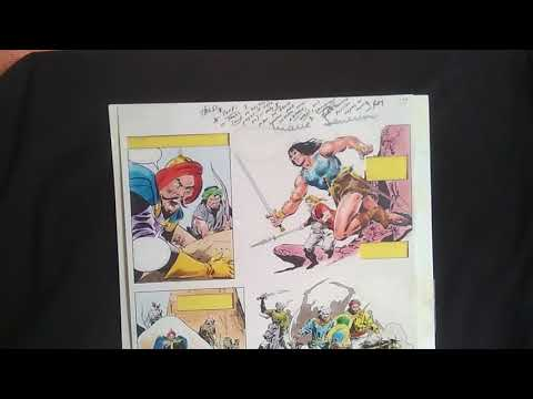 tales from the cript grading marie severin original color painting of conan production page signed
