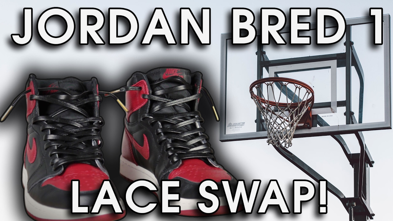 e3719a8c752d01 Lace Swapped Jordan Bred 1 s with Leather Laces! - YouTube