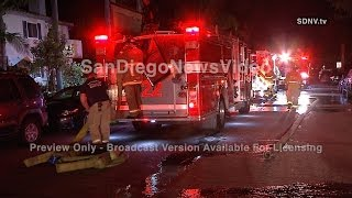 MAN SUFFERS BURNS TO HANDS IN SHED FIRE, OCEAN BEACH