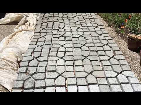 Making your own pavers from a concrete mold