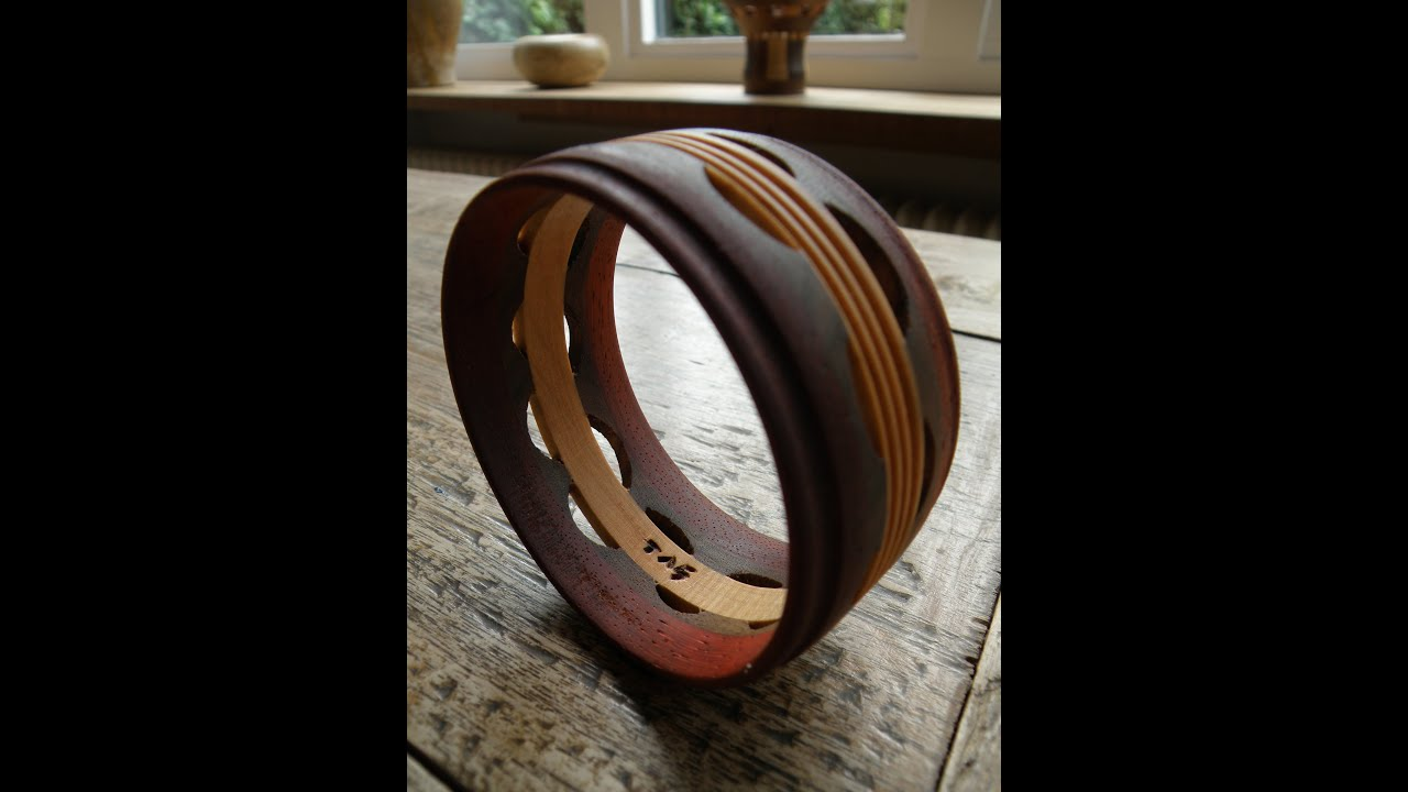 Woodturning bracelet youtube for How to make a wooden ring