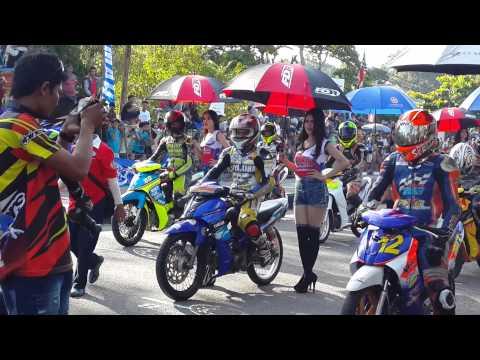 Umbrella girl beautiful girl Sungailiat Bangka Indonesia