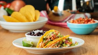 Weeknight Pulled Chicken Tacos •Tasty thumbnail