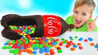 Vlad und Niki Schokolade & Soda Herausforderung für Mama
