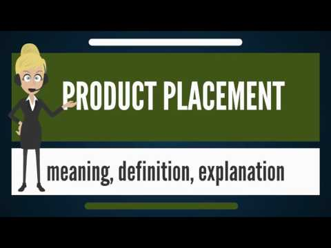 What is PRODUCT PLACEMENT? What does PRODUCT PLACEMENT mean? PRODUCT PLACEMENT meaning