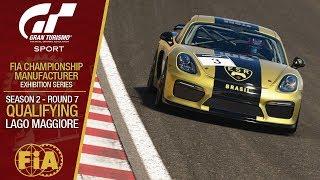 GT Sport - FIA Championship Exhibition 2019 #09: Season 02 - Round 07 - Qualifying: Lago Maggiore