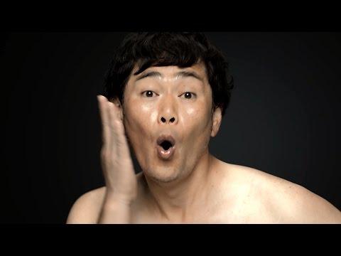 ココリコ遠藤、ライザップで肉体改造宣言 減量前のぽっちゃりお腹を披露 RIZAP新TVCM「宣言編」撮影風景