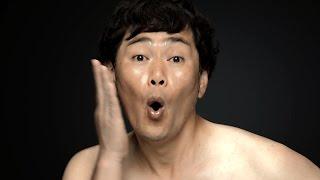 ココリコ遠藤、ライザップで肉体改造宣言 減量前のぽっちゃりお腹を披露 RIZAP新TVCM「宣言編」撮影風景 thumbnail