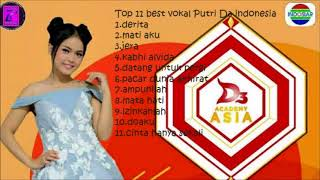 kumpulan lagu terbaik putri da  best vokal  indonesia
