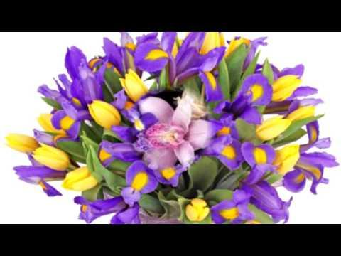 Букет «Ирисы с тюльпанами»