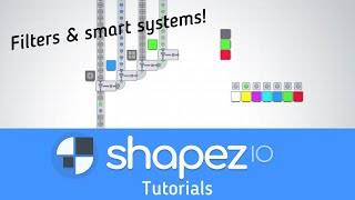 Shapez.io Alpha-Filters, Smart Factories & Automation