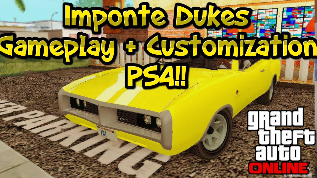 Gta 5 online ps4 imponte dukes gameplay cuztomization next gen dodge charger 1969