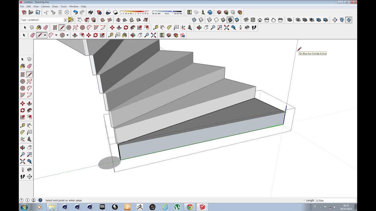 Disegnare Una Scala A Chiocciola creazione scala con sketchup