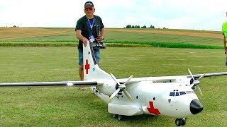 HUGE RC TRANSALL C-160 SCALE MODEL AIRPLANE FLIGHT DEMONSTRATION