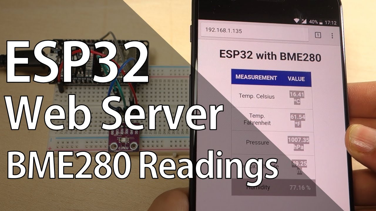 ESP32 Web Server with BME280 – Advanced Weather Station