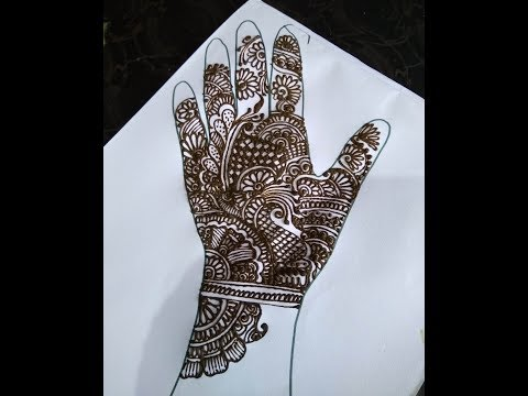Mehndi Henna Designs for Hands Simple and Easy for Beginners by Cone on Paper Artwork