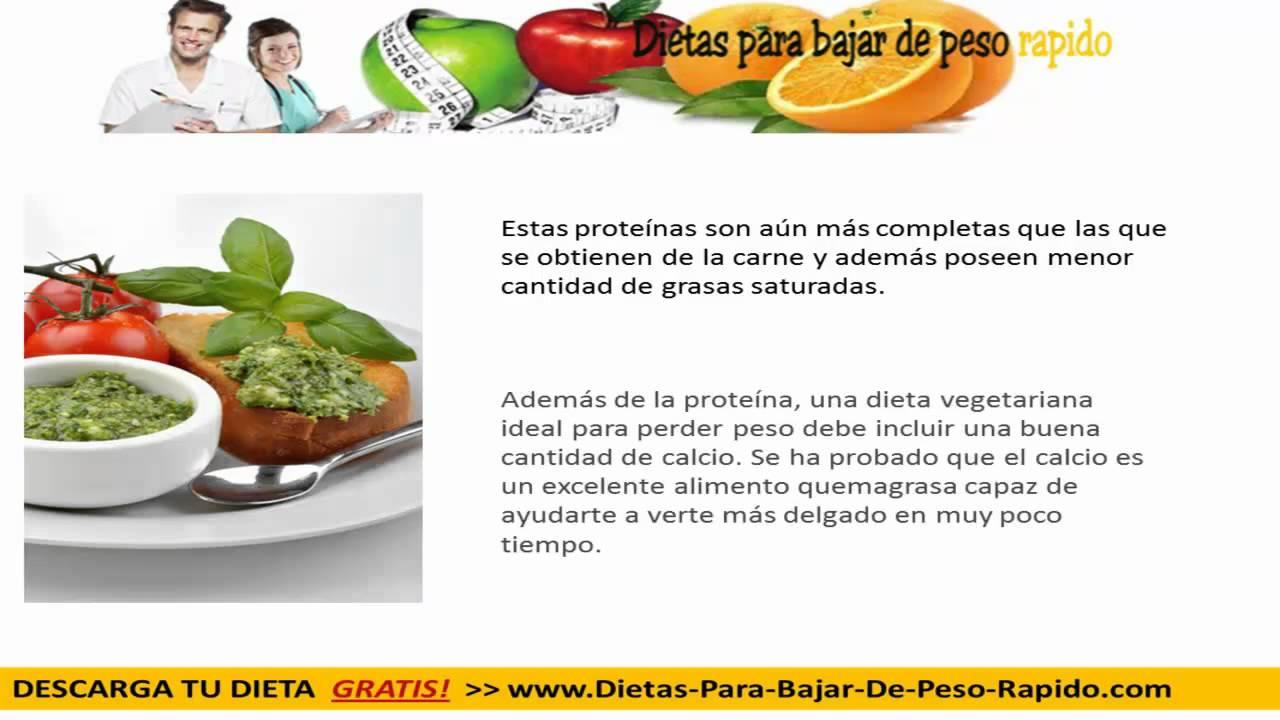 Adelgazar rapido con dieta vegetarianas