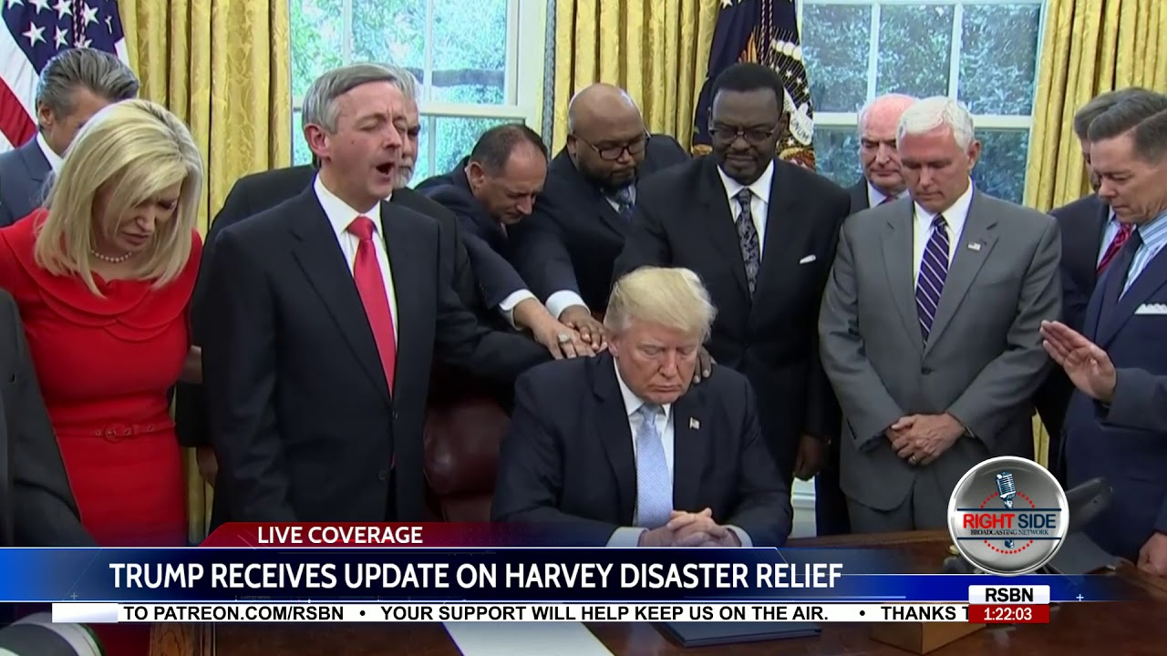 President Trump Oval Office Prayer After Declaring Day