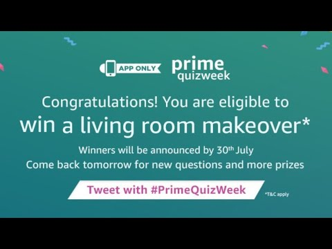 Win A Living Room Makeover, Amazon Prime Quiz Answers, Amazon App Part 49