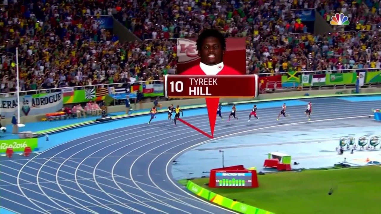 Just how fast is Tyreek Hill pare him to Usain Bolt