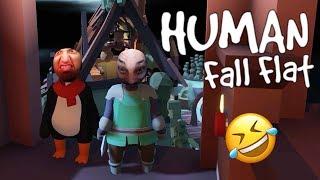 الإنسان المسطح | ضحك مايوقف في اصعب مرحله لعبناها!! Human Fall Flat