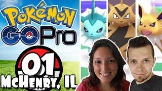 Pokemon GO Pro - Episode 1 | CATCHING POKEMON & GYM BATTLES in McHenry, IL!