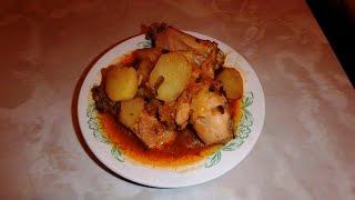 Как приготовить жаркое из курицы.Рецепт моей мамы.№88 Гульмира Сынбулатова