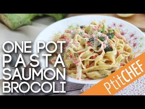 recette-de-one-pot-pasta-au-saumon-et-brocolis---ptitchef.com