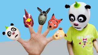 동물가면 핑거송 서은이와 엄마의 동물가면 팬더 닭 당나귀 여우 강아지 핑거송 술래잡기 숨바꼭질 Animal Mask Finger Song with Seoeun
