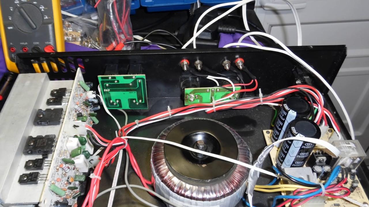 Ekho Sound Sx400 Amplifier Repair 700w Power With 2sc5200 2sa1943