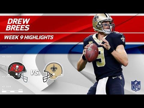 Drew Brees Highlights | Buccaneers vs. Saints | Wk 9 Player Highlights