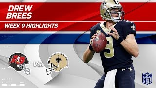 Drew Brees Highlights | Buccaneers vs. Saints | Wk 9 Player Highlights