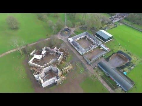 Game of Thrones drone footage Moneyglass estate (Winterfell)