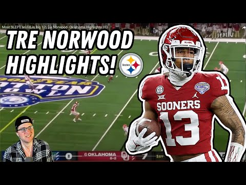 Steelers draft TRE NORWOOD | Deke REACTS to TRE NORWOOD Oklahoma Highlights