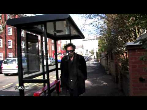 Tim Burton near his home in London on Mar 1, 2010, Belsize Park